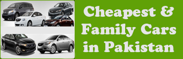 Cheapest and Family Cars in Pakistan