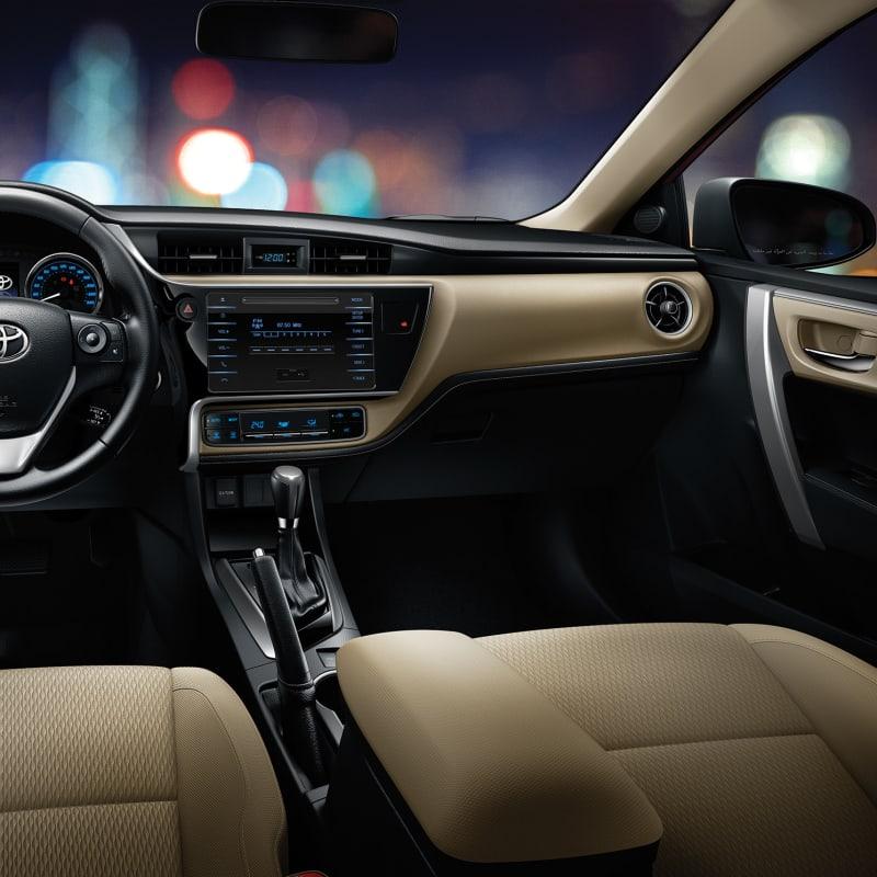 Facelift Toyota Corolla Interior